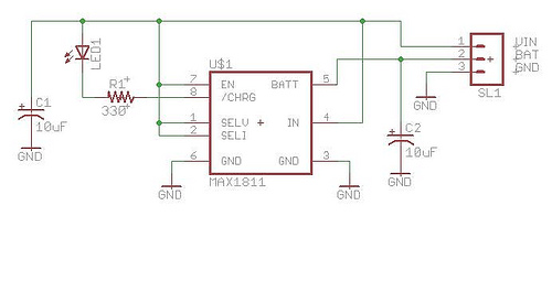 on lipo battery charging circuit