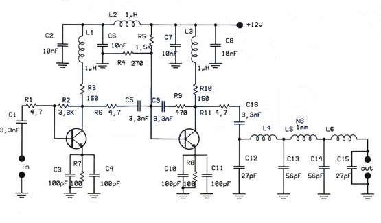 1W Linear FM Amplifier