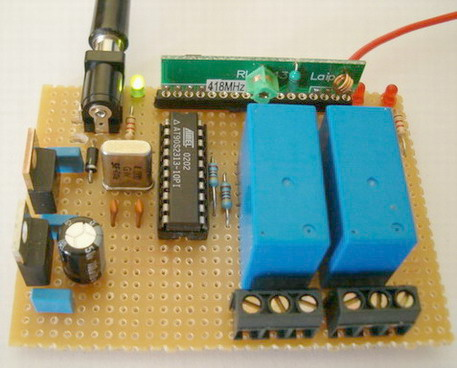 2 Channel RF AVR Remote Control