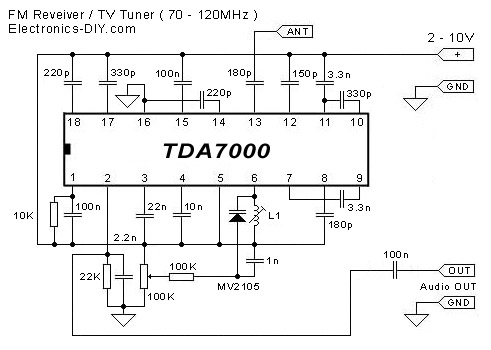 tda7000 fm receiver / tv tuner / aircraft receiver