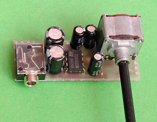 Miniature Headphone Amplifier