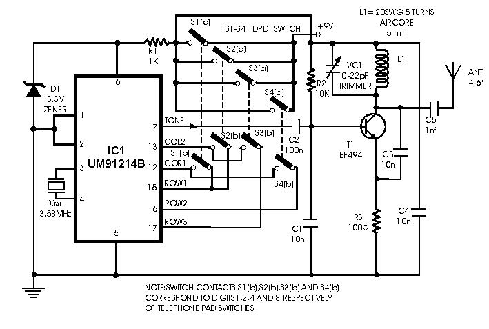 make a remote controlled toy car circuit electronic circuit projectscircuit zone com electronic projects, electronic schematics, diy