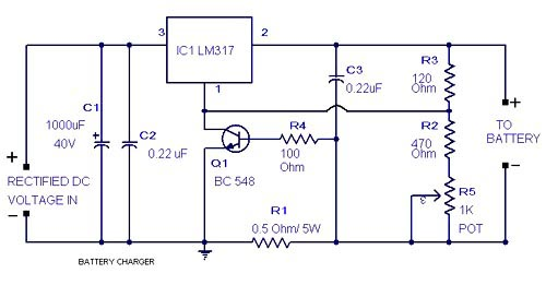 Circuit zone electronic projects electronic schematics diy lead acid battery charger circuit ccuart Image collections