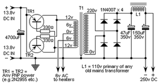 DC13.8V to DC250V Inverter Circuit