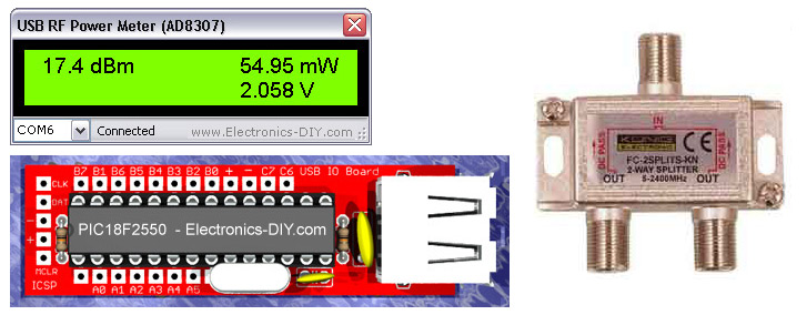 AD8307 USB 0-500MHz RF Power Meter