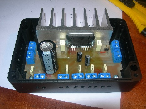 DIY 4 x 22W Car Audio Amplifier Based on TDA7384