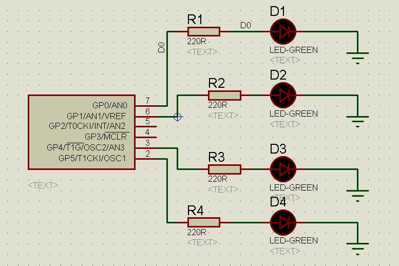 Running LEDs with PIC 12F675