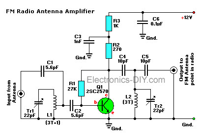 Tv Antenna Pre lifier Schematic on tv schematic diagrams