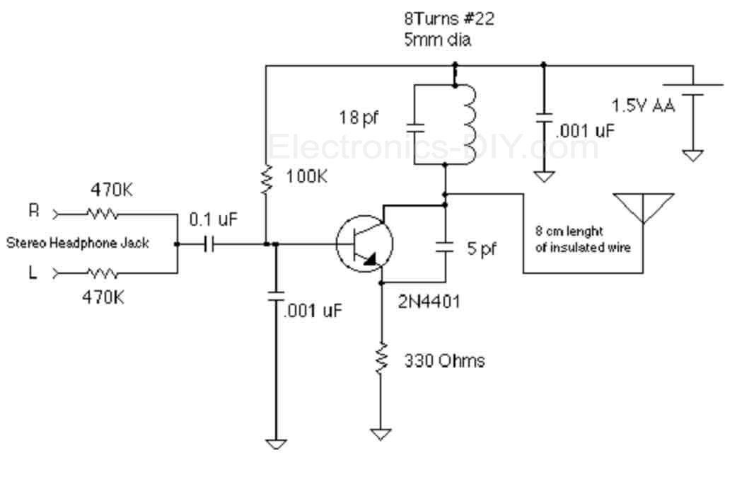 circuit zone com electronic projects, electronic schematics, diy1 5v fm broadcast transmitter