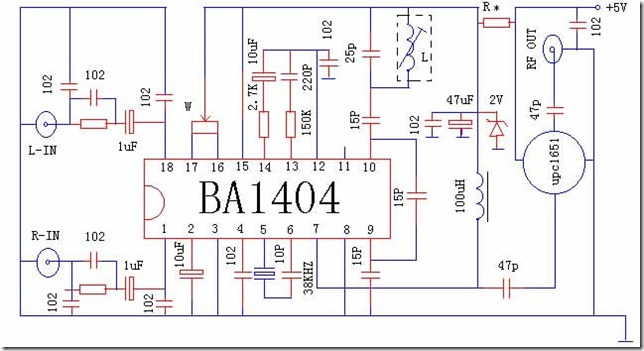 BA1404 Transmitter with UPC1651RF Amplifier