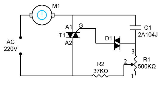 Circuit electronic projects electronic Speed control for ac motor