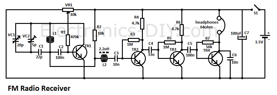 circuit zone com electronic projects electronic schematics diy simple fm radio receiver