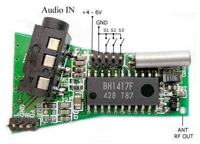 BH1417 PLL Stereo FM Transmitter
