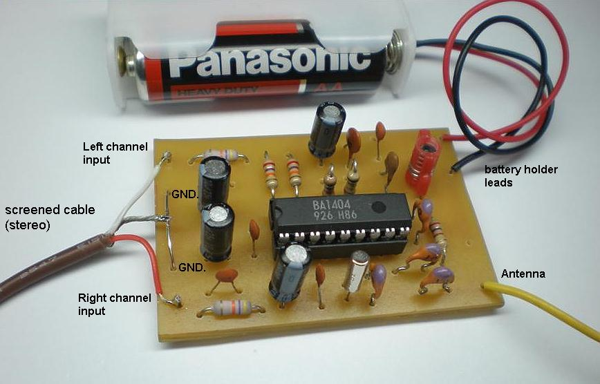 FM Stereo Transmitter using BA1404