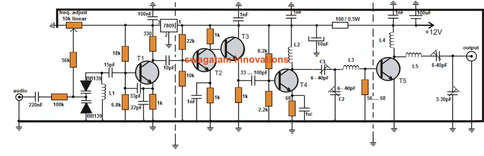 Electronic Projects Schematics Diy Circuit Diagram Online Of Ups 500w 2 5 Km Long Range Fm Transmitter The Proposed