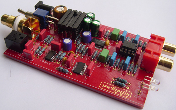 24-Bit 192KHz PCM1793 DAC with DIR9001 Receiver and OPA2134 OPAMP