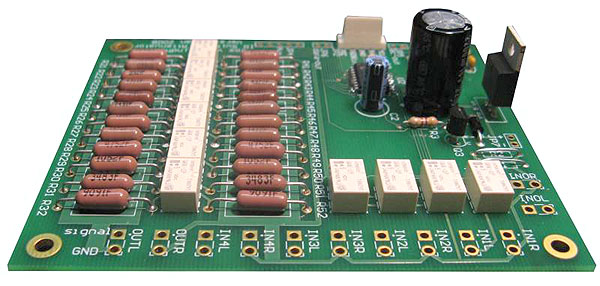 Audio Volume Relay Attenuator with IR Control