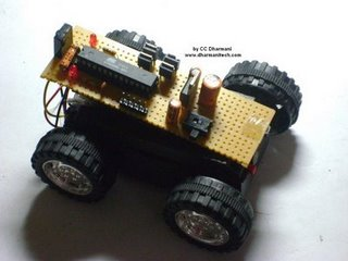 IR Remote Controlled Car (PWM motor control using ATmega8)